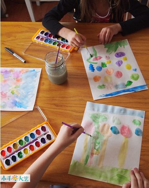 术教育联盟儿童水彩画 春天的花园 文章详情
